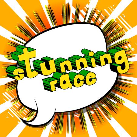 見事なレース - コミック スタイル word の抽象的な背景。