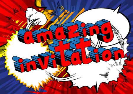 Amazing Invitation Comic book style Çizim