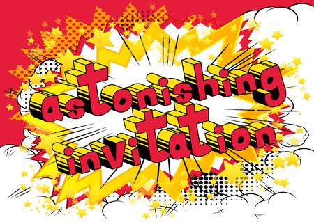 Astonishing Invitation Comic book style Иллюстрация