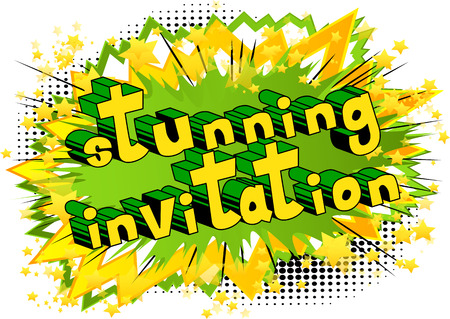 Stunning Invitation Comic book style
