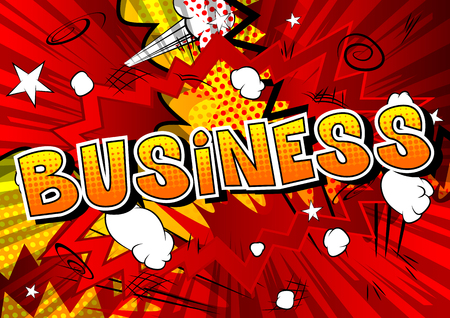 Business comic style template.