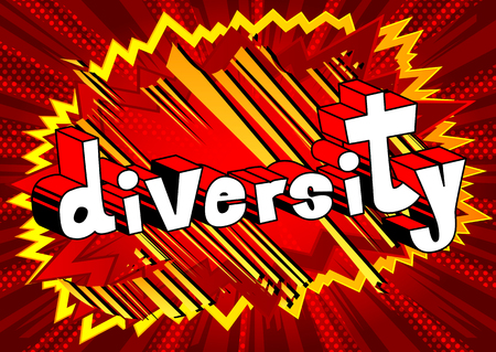 Diversity Comic book style word