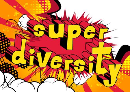Super Diversity Comic book style word