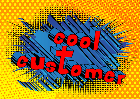 Cool Customer - Comic book style word on abstract background.