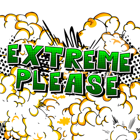 Extreme Please - Comic book style word on abstract background. Reklamní fotografie - 89966619