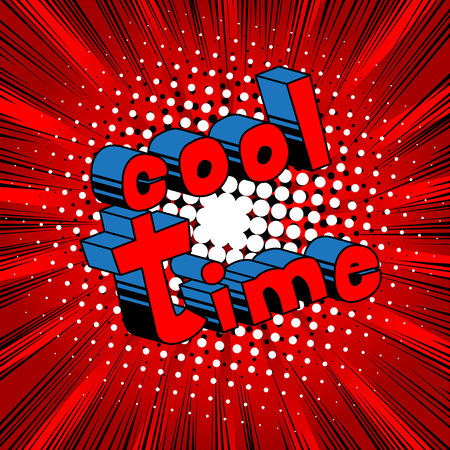 Cool time banner. Illustration