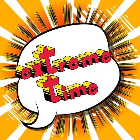 Extreme Zeit Banner Standard-Bild - 91740753