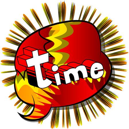 時間 - コミック スタイル word の抽象的な背景。