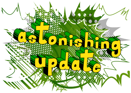 Astonishing Update - Comic book style word on abstract background. Illustration