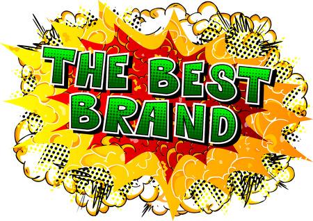 최고의 브랜드 - 추상적 인 배경에 만화 스타일 단어. 일러스트