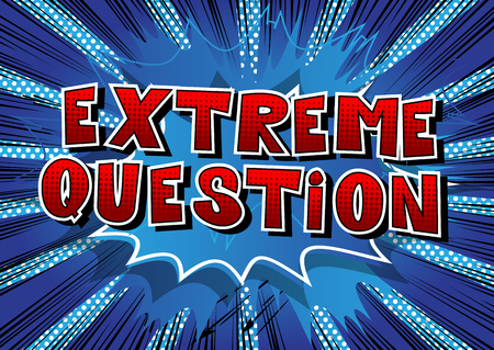 Extreme Question Comic book style word on abstract background. Ilustrace