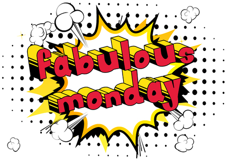 Fabulous Monday  Comic book style word Ilustrace