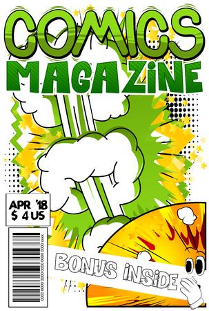 抽象的な爆発と漫画の本のカバー  イラスト・ベクター素材