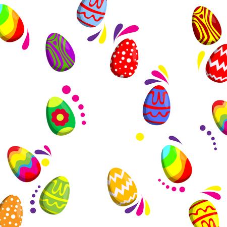 Easter egg pattern. Vector cartoon background illustration.