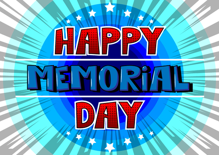 Happy Memorial Day greeting card design