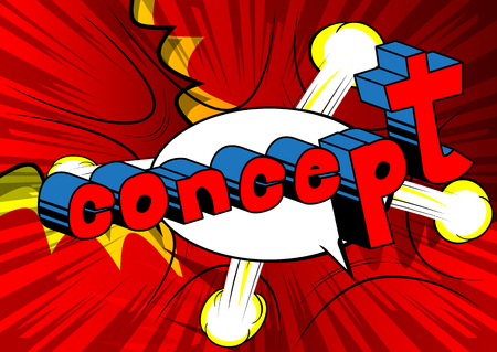 Concept - Comic book style phrase on abstract background. Illustration