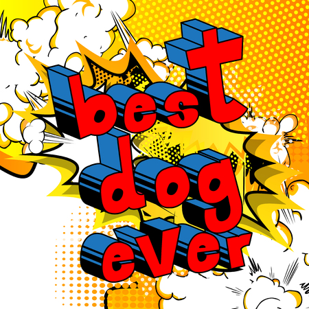 Best Dog Ever - Comic book word on abstract background.