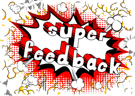 Super Feedback - Comic book word on abstract background. 일러스트
