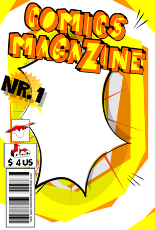 Editable comic book cover with abstract background. Stockfoto - 103196656