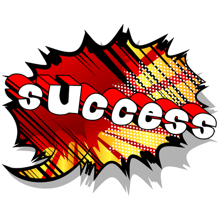 Success - Comic book word on abstract background. Vetores