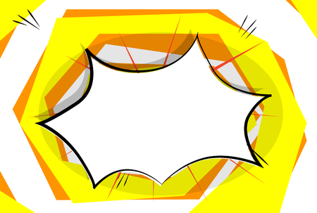 Vector illustrated comic book style abstract background.