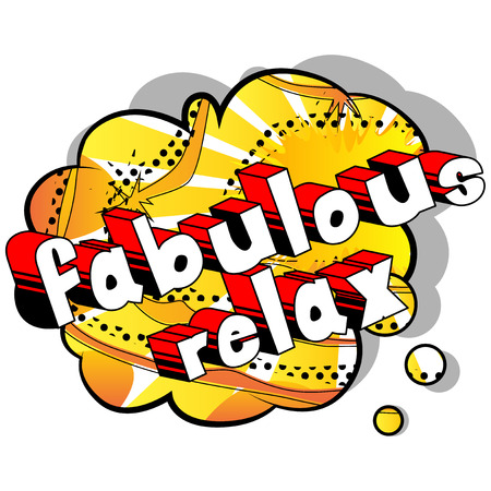 Fabulous Relax - Comic book word on abstract background. Ilustração