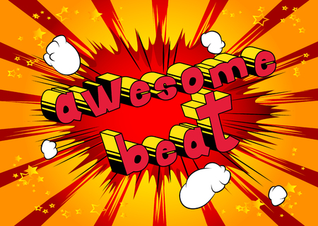 Awesome Beat - Comic book word on abstract background. Illustration