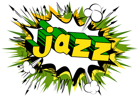 Jazz - Comic book word on abstract background.