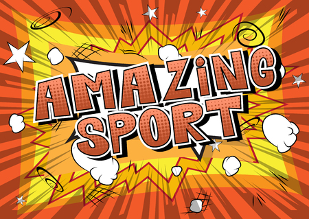 Amazing Sport - Comic book style word on abstract background. Standard-Bild - 104829104