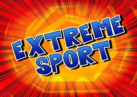 Extreme Sport - Comic book style word on abstract background. Standard-Bild - 104829110