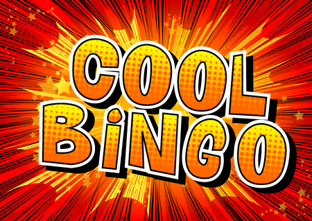 Cool Bingo - Comic book style word on abstract background.