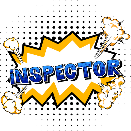 Inspector - Vector illustrated comic book style phrase. Ilustrace