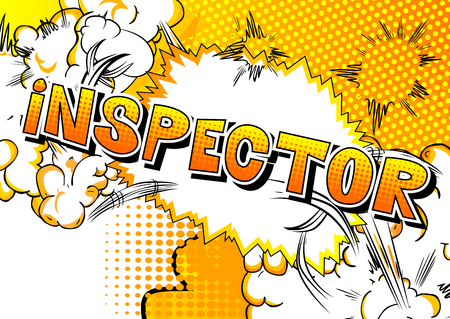 Inspector - Vector illustrated comic book style phrase. 일러스트