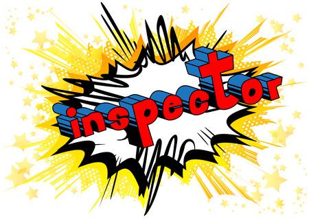 Inspector - Vector illustrated comic book style phrase. Illusztráció