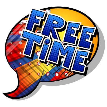 Tiempo libre - palabra de estilo cómic sobre fondo abstracto.