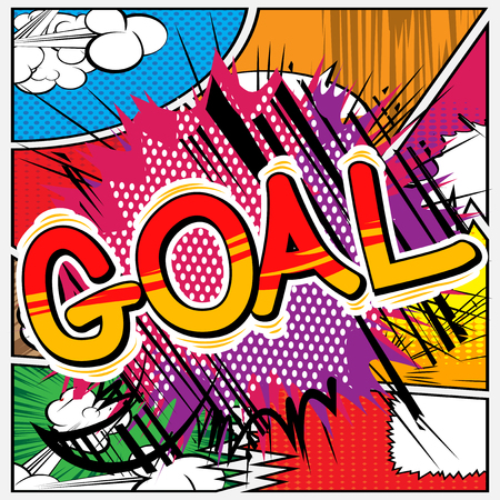 Goal - Vector illustrated comic book style phrase.