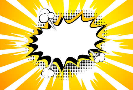 Vektor illustrierte Karikatur, Comic-Stil Hintergrund. Vektorgrafik