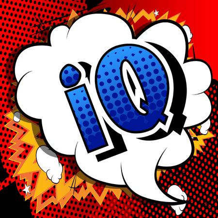 IQ - Vector estilo cómic ilustrado frase.