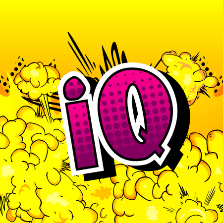 IQ - Vector illustrated comic book style phrase. Banco de Imagens - 108359195