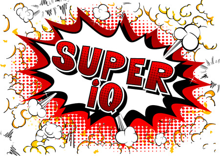Super IQ - Vector illustrated comic book style phrase. 向量圖像