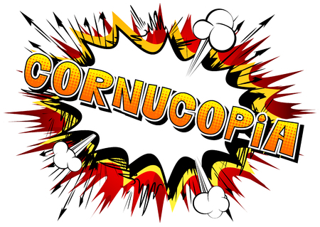 Cornucopia - Vector illustrated comic book style phrase. Illustration