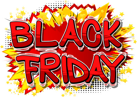 Black Friday - Vector illustrated comic book style phrase. Ilustracja