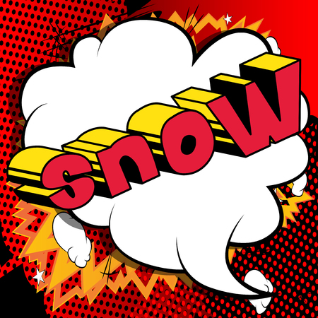 Snow - Vector illustrated comic book style phrase. Ilustrace
