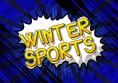 Winter Sports - Vector illustrated comic book style phrase.