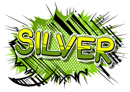 Silver - Vector illustrated comic book style phrase.  イラスト・ベクター素材
