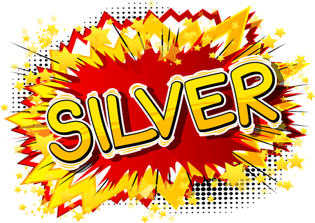 Silver - Vector illustrated comic book style phrase. Stock fotó - 109838060