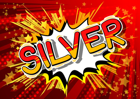Silver - Vector illustrated comic book style phrase. Ilustrace