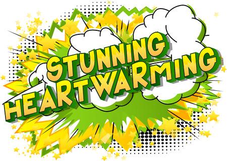 Stunning Heartwarming - Vector illustrated comic book style phrase. Reklamní fotografie - 111683747