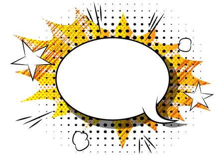 Vector comic book explosion. Comic style cartoon speech bubble for text isolated on white background.