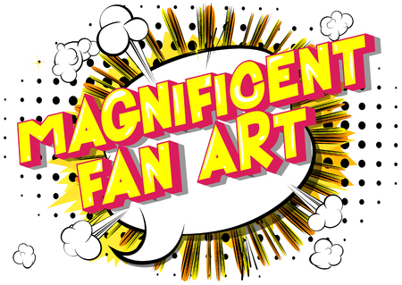Magnificent Fan Art - Vector illustrated comic book style phrase. Stock Illustratie